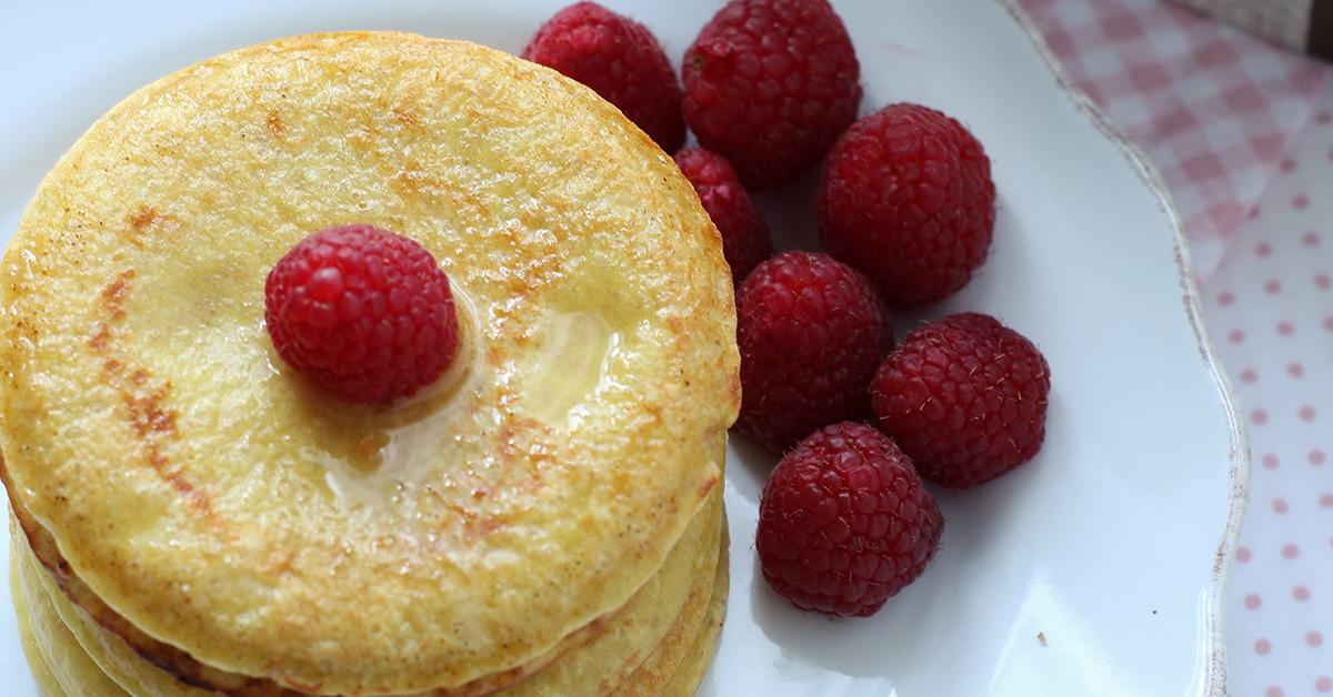 Pancake Couscous miele e lamponi
