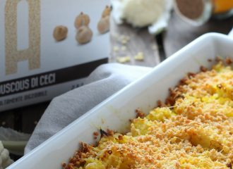 Cavolfiori alla Curcuma con crumble di Couscous di ceci