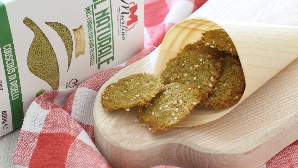 chips di couscous di sasamo