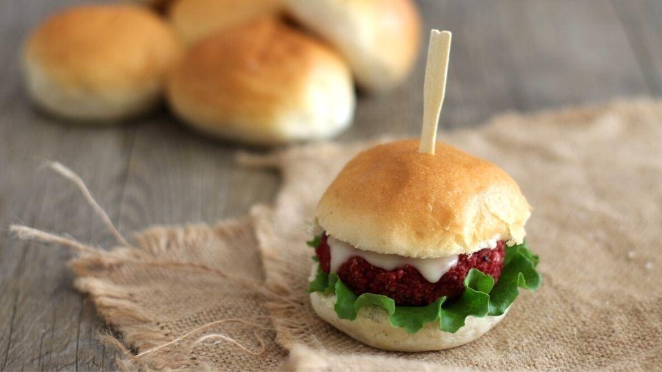 mini cheese burger di cous cous