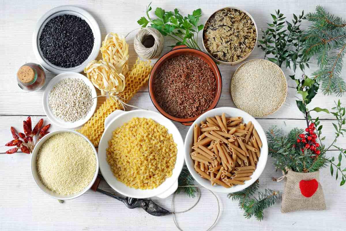 Couscous and pasta, healthy grains.