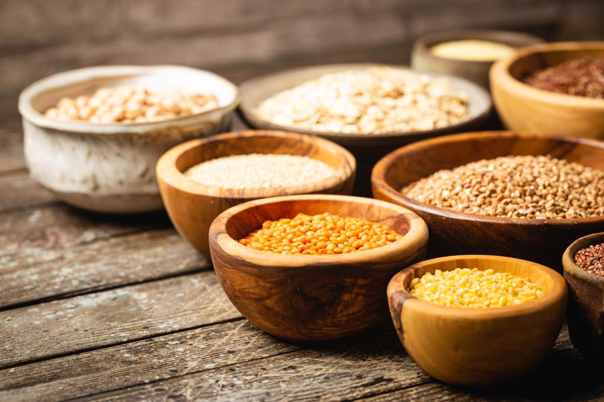 Couscous and rice, healthy grains.