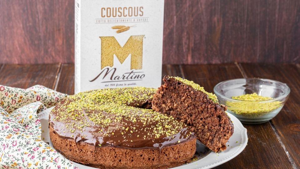 Torta di couscous e cioccolato